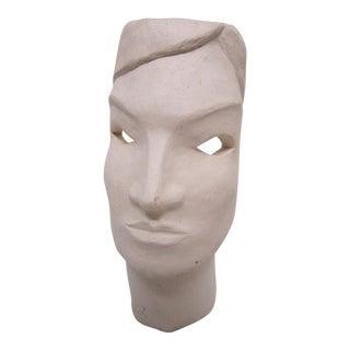 Helen Cox Modernist Face Sculpture