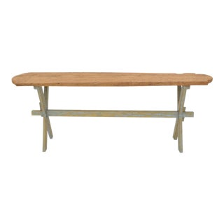 Sarreid Ltd Rustic Floor Board Console Table