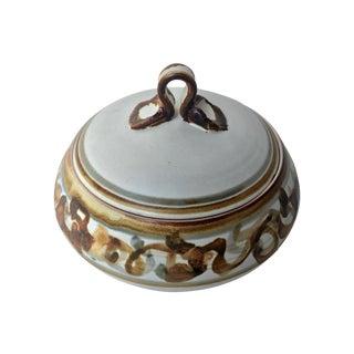 Vintage Studio Pottery Lidded Dish