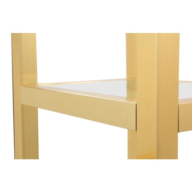 mid century modern gold etagere chairish. Black Bedroom Furniture Sets. Home Design Ideas