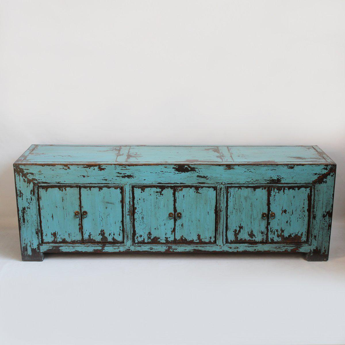 Turquoise Ming Media Cabinet Chairish