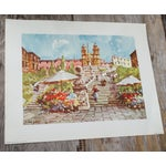 Image of Vintage Italian Lithograph Prints - A Pair