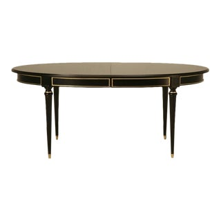 Jansen Inspired French, Louis XVI Style Ebonized Dining Table
