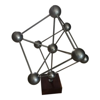 Atomium Sculpture on Black Walnut Base