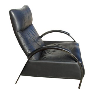 George Mulhauser for DIA Modern Chrome & Black Leather Reclining Chair