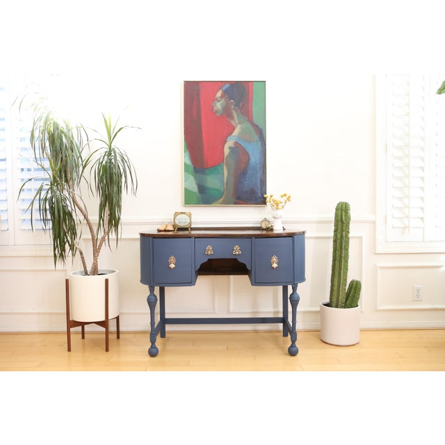 Circa 1930 Louis XV Style Petite Kidney Shaped Desk - Image 2 of 11