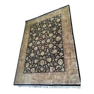 Black & Tan Persian Sarouk Rug - 8′11″ × 12′3″