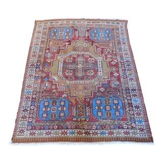 Antique Caucasian Kazak Rug - 4′ × 5′9″