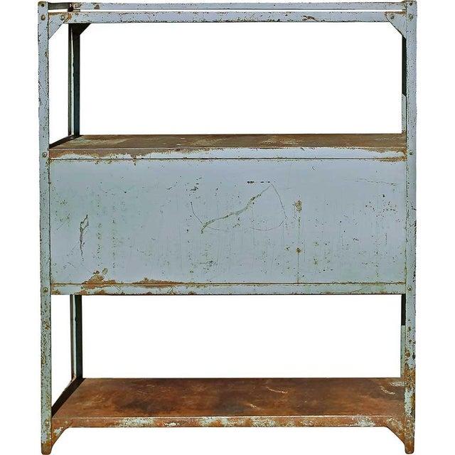 Vintage Double Door Iron Rack - Image 5 of 5
