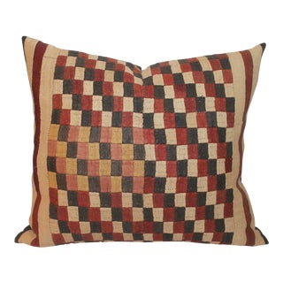 African Cuba Cloth Pillow