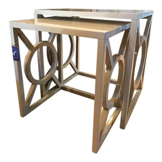 Bernhardt Zara Nesting Side Tables - A Pair