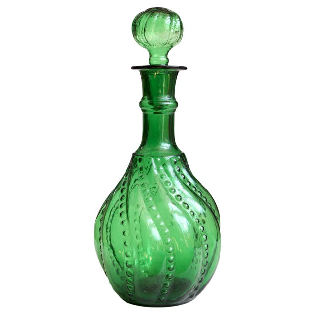 Green Decanter Genie Bottle - Image 1 of 5