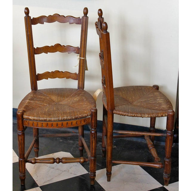 Antique Petite French Dining Chairs - A Pair - Image 3 of 4