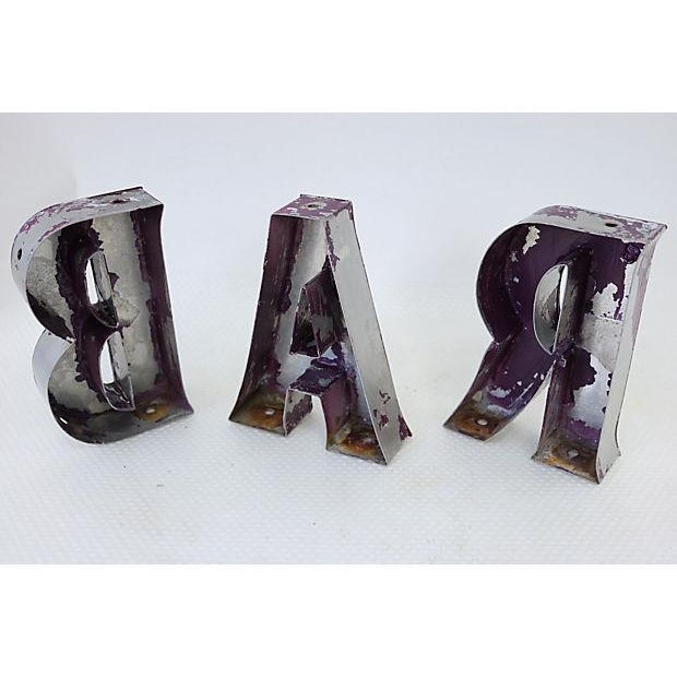 """Image of Vintage English """"Bar"""" Marquee Letters"""