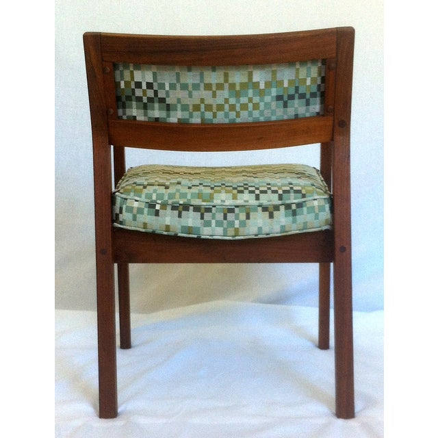Mid-Century Walnut Upholstered Armchairs - A Pair - Image 7 of 7