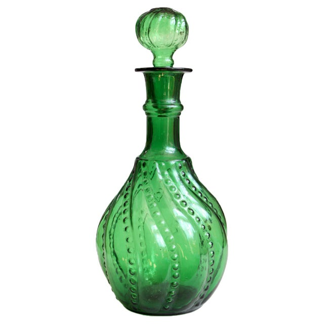 Green Decanter Genie Bottle - Image 5 of 5