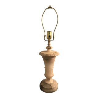 Italian Alabaster Carved Table Lamp