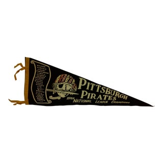 Vintage MLB Pittsburgh Pirates 1960 National League Champions Team Pennant