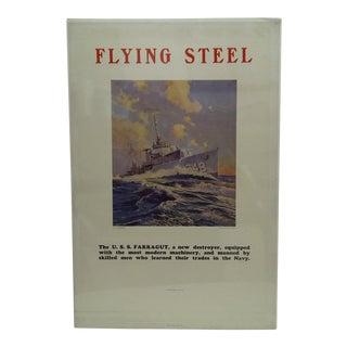 Circa 1930 Flying Steel The U.S.S. Farragut