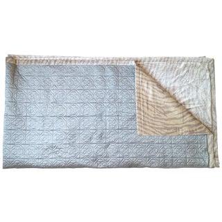 Silk & Velvet Quilt Coverlet