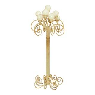 Hollywood Regency Ornate Wrought Iron Floor Lamp