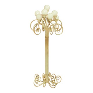 Hollywood Regency Ornate Wrought Iron Floor Lamp