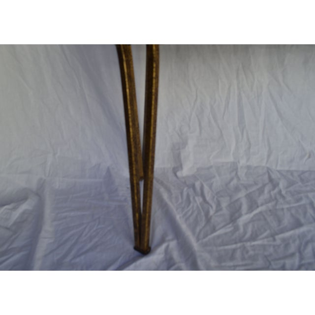 1970s Gold Leaf Console with Travertine Top - Image 6 of 7