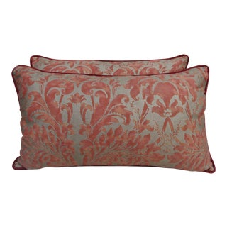 Pair of Lucrezia Patterned Fortuny Pillows, Pair
