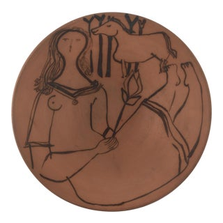 Jacques Innocenti Woman & Horse Decorative Bowl