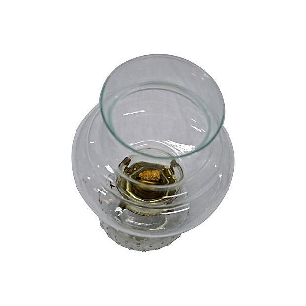 Image of Vintage Clear Glass Oil Lamp