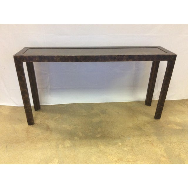 Widdicomb Brass & Faux Tortoise Console Table - Image 3 of 7