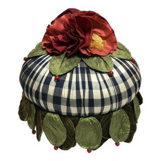 Mackenzie Childs Silk Roses Footstool