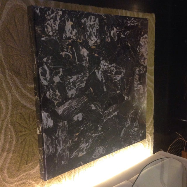 Italian Black Marble Coffee Table - Image 3 of 8