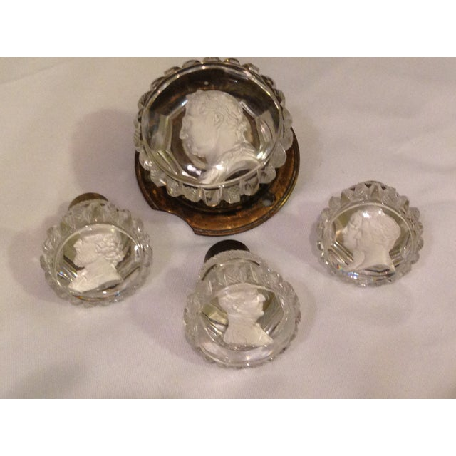 Image of 1850s Reverse Intaglia Door Knobs - Set of 4