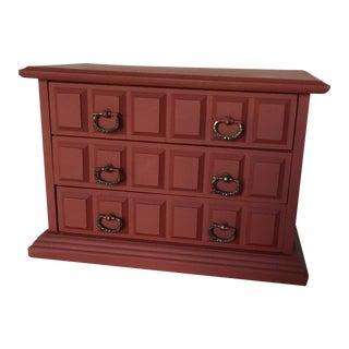 Painted Vintage Wood Boho Jewelry Box