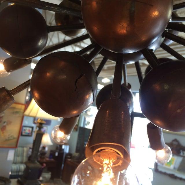 Vintage Brass Sputnik 20 Light Chandelier - Image 7 of 8