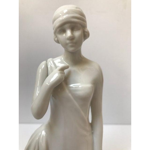 Art Deco Flapper Woman Statue - Image 4 of 8
