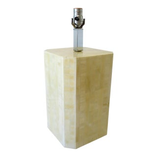 Tessellated Bone Tile Table Lamp