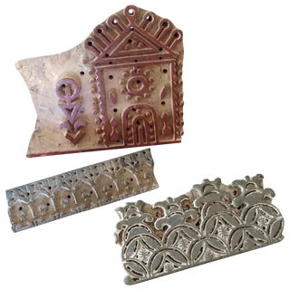 Wooden Printing Blocks - Set of 3