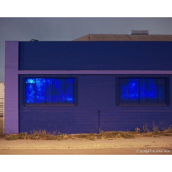 """Painted Windows"" Night Photograph by John Vias - Image 1 of 2"
