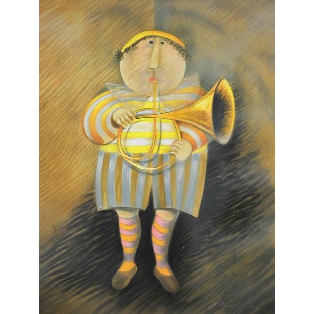 "Signed & Numbered Lithograph ""French Horn Player"" by Graciela Rodo Boulanger - Image 3 of 9"