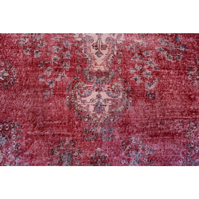"Distressed Turkish Rug Decorative Rug, 6'1"" X 9'8"" - Image 3 of 8"