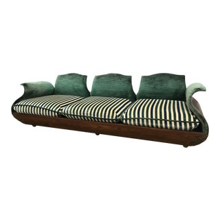 Vintage Mid Century Custom Bent Wood Sofa