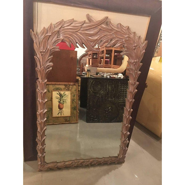 Vintage Palm Frond Wall Mirror - Image 4 of 9