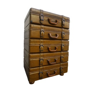 Stack of Suitcases Nightstand or End Table