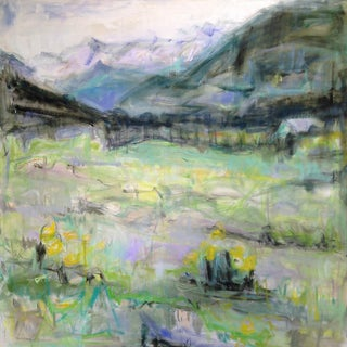 "Large Abstract Landscape by Trixie Pitts ""Rocky Mountain Summer"""