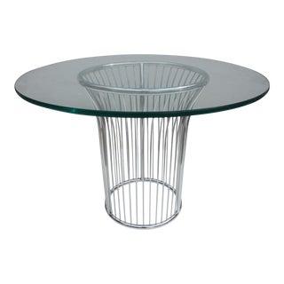 Gastone Rinaldi Italian Chrome Dining Table