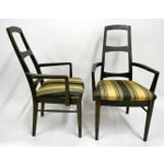 Image of Mid-Century Black Teak Dining Chairs - Set of 6
