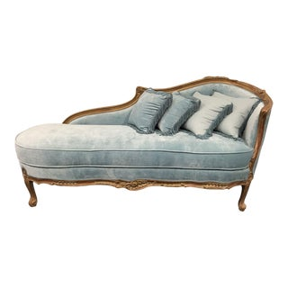 Vintage French Empire Style Chaise Lounge