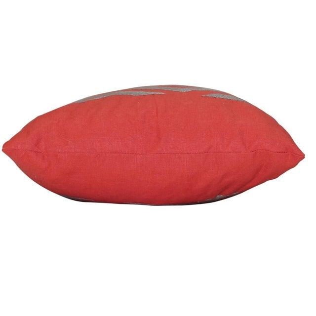 New Stark Ikat Kidney Pillow - Single Pillow - Image 3 of 4